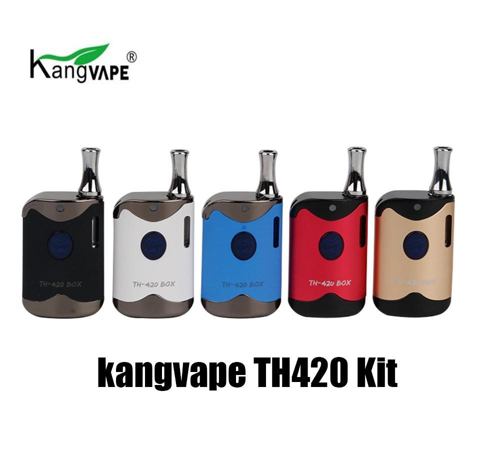 Otantik Kangvape TH420 vape mod marş seti ile 650 mAh yapım-in batarya 510 kalın yağ vape kartuşları atomizer tankı kalem th 420