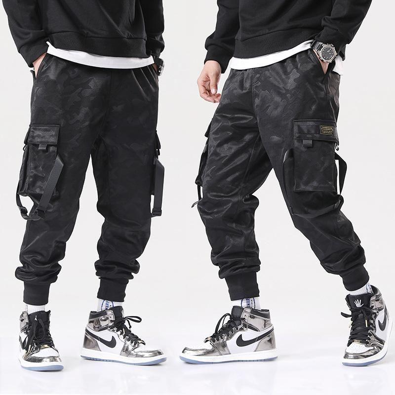 Jogging Overalls Männer Casual Hosen Hosen Hip-Hop Street Clothing Camouflage Sports Lace-up Mode Hombre Herren
