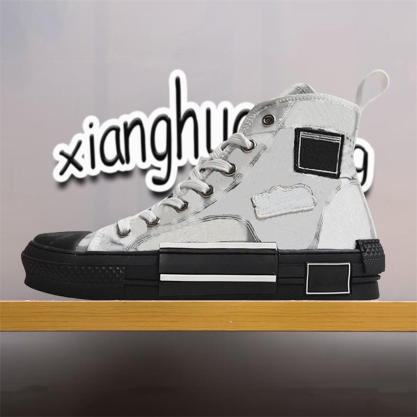 Top Quality Luxurys Designers Sapatos Casuais B23 Tecnologia oblíqua Canvas B22 B24 19SS Flores Plataforma Ao Ar Livre Sneakers Vintage