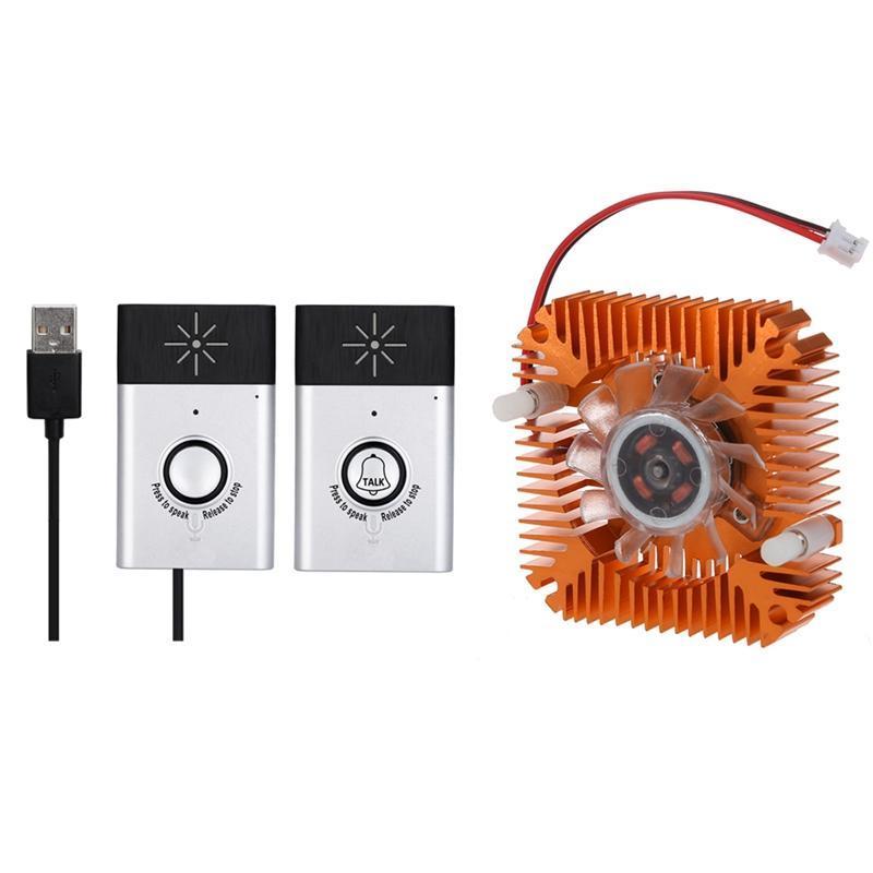 Doorbells PC Computer Laptop CPU VGA Video Card 55mm Cooler Cooling Fan Heatsink With Wireless Intercom Doorbell