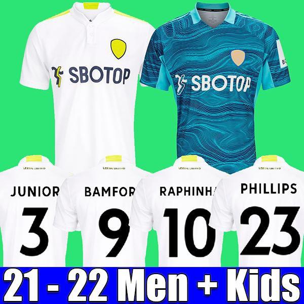 Leeds Soccer Jerseys United 21 22 T Roberts Harrison Hernandez Costa Bamford Alioski Clarke 2021 2022 Fans Spieler Fußball Hemd Männer Kids Kit
