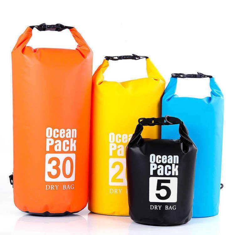 Outdoor PVC mesh waterproof bucket bag waterproof bag single shoulder mountaineering seaside beach outdoor drifting bag