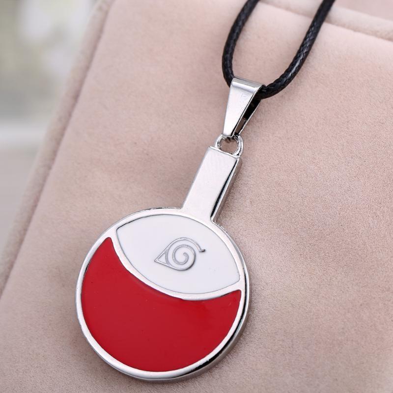 Uchiha Anhänger Naruto Geschenksymbol Halskette Mode Blatt Halsketten Anime Dorf Für Cosplay Logo Schmuck Choker Halskette Männer Itwqm