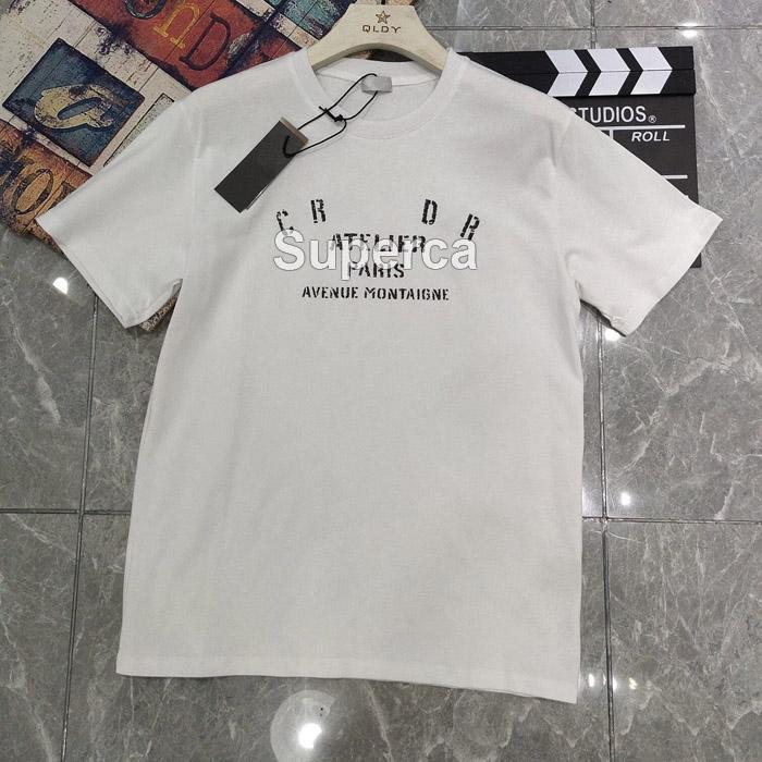 21SS 높은 qaulity 여름 망 디자이너 티셔츠 티셔츠 100 % 코 튼 프린트 Fashio 캐주얼 커플 짧은 소매 티 남성 여성 편안한 티셔츠 D1R2