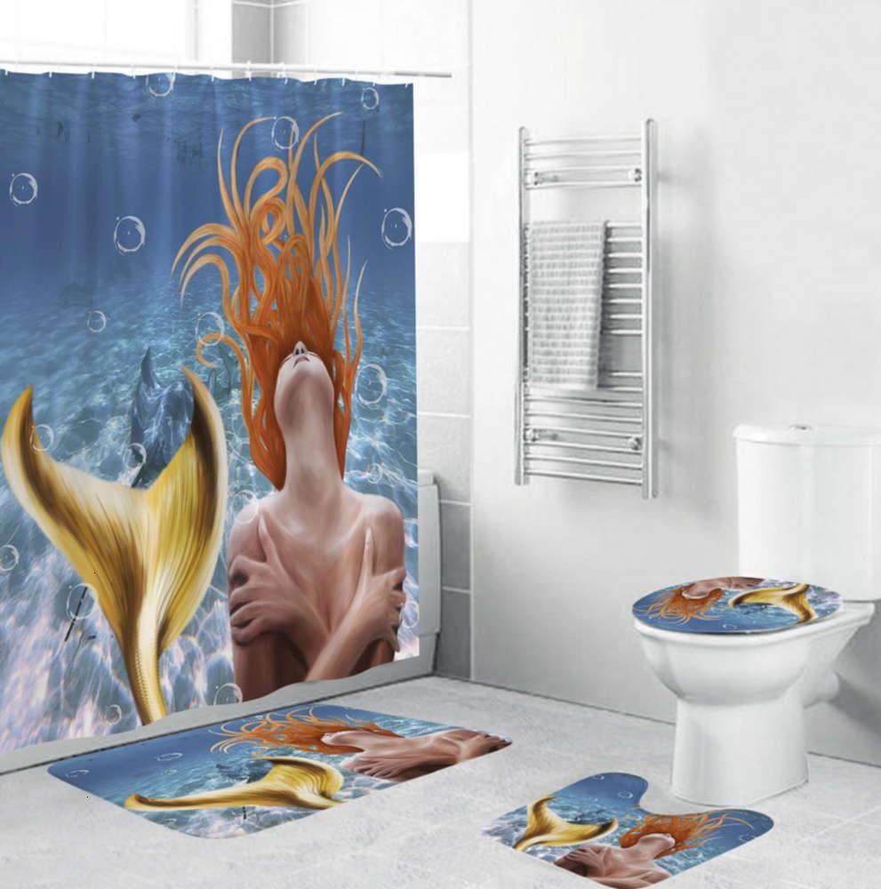 Морская русалка для душа для душа Multi цветной ванной политор