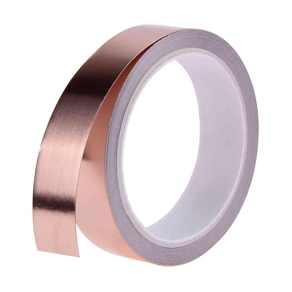 11m 25mm Copper Foil Double Conductive Adhesive EMI Shielding Tape for Paper Circuits Electrical Repair Tools XZWK
