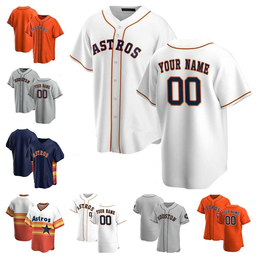 2021 휴스턴 남성 여성 키즈 아스트로스 27 Jose Altuve Jersey George Springer Michael Brantley Yuli Gurriel Alex Bregman Baseball Jerseys