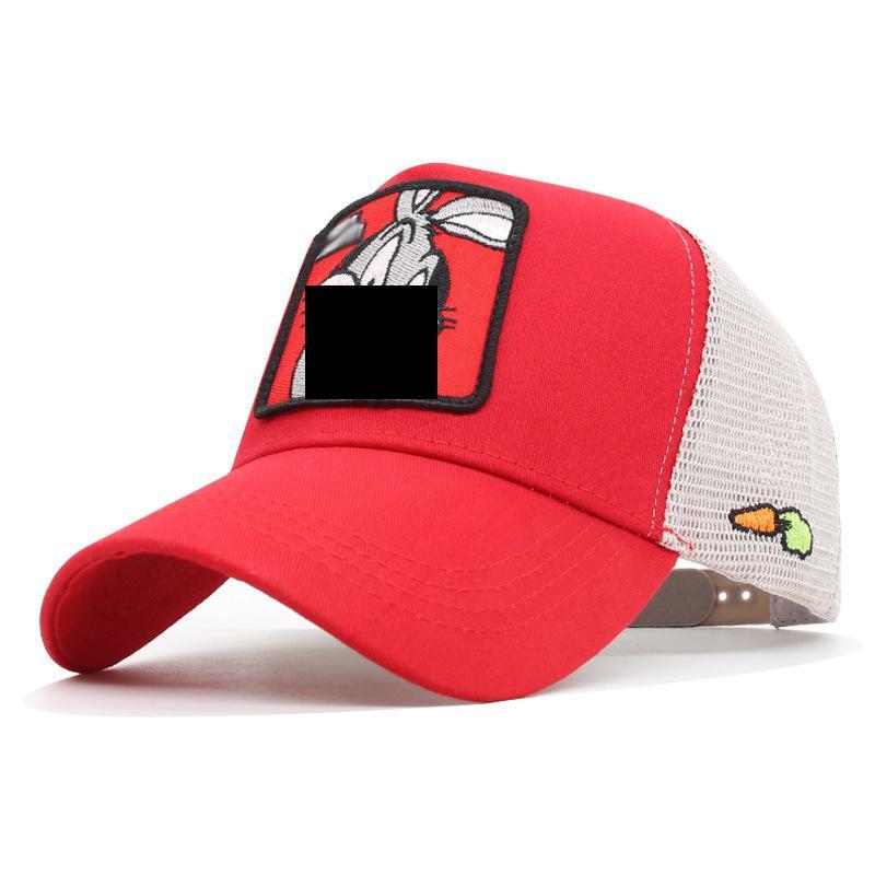 جودة عالية الكرتون أنيمي البيسبول صافي كاب الصيف في الهواء الطلق السفر شارع الظل بارد القبعات التطريز قبعة طباعة