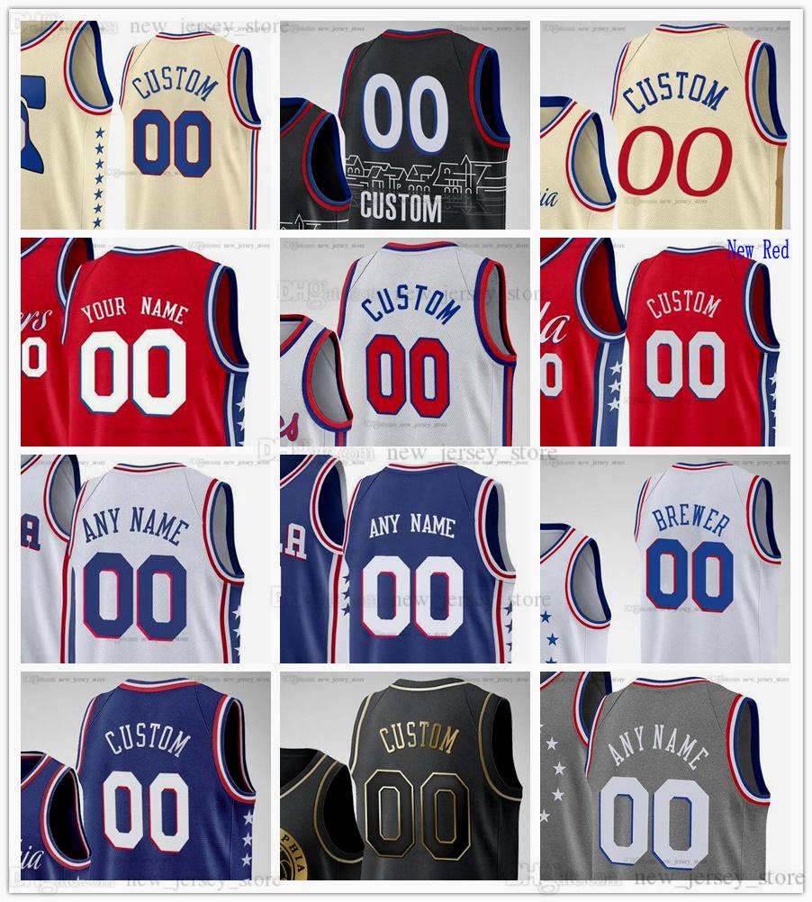 Jerseys de baloncesto impreso personalizado 21 Joel 25 Ben Embiid Simmons 14 Danny 31 Seth Curry verde 1 Mike Scott 39 Dwight 12 Tobias Howard Harris George Hill Matisse Thybulle