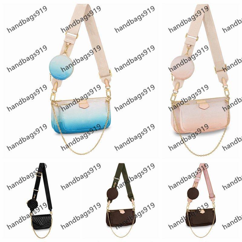 어깨 가방 패션 가방 핸드백 919 어깨 가방 도매 2021 여성 메신저 mahjongbag 좋아하는 3 조각 다기능 다중 색상 lj01 lj12