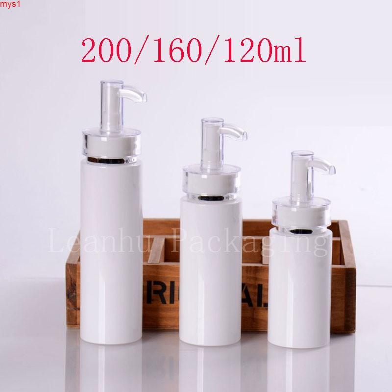 120ml 160ml 200ml vacío acrílico bomba de spray contenedor cosmético neblina y loción alta calidad con dispensador bomba de alta cantidad