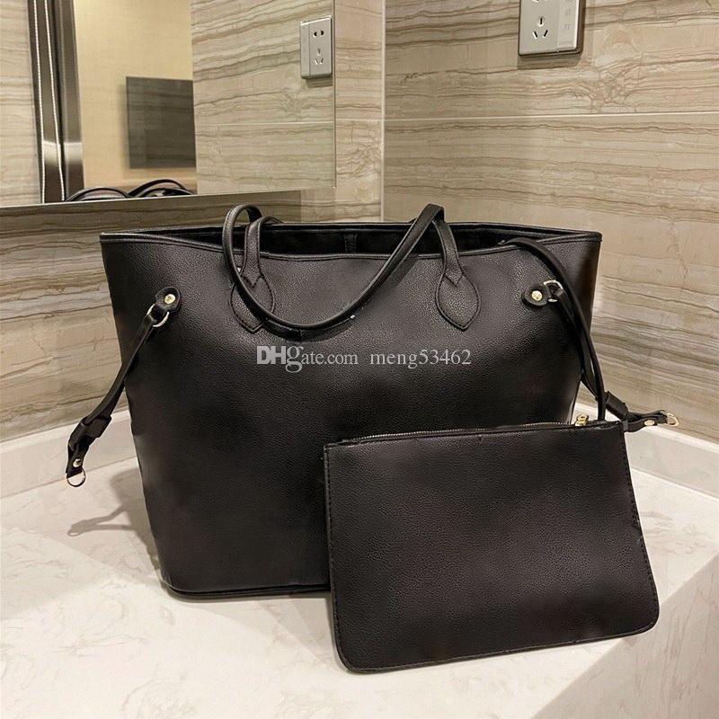 Vintage Cowhide 3D Relief Onthego 2 stücke Schulter Shopping Taschen Dame Totes Luxurys Designer Handtaschen Geldbörsen Frauen Mode Crossbody Messenger Bag