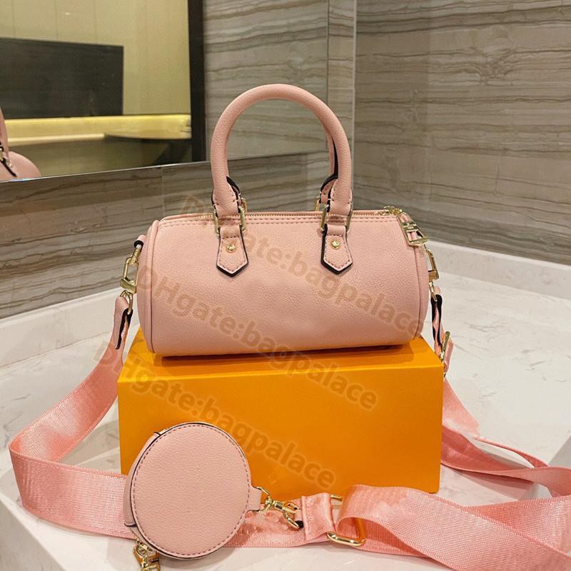 2021 travesseiro de verão sacos mais recentes designers luxurys bolsa crossbody 2 pcs clássico gradiente moeda bolsa rosa azul ombro bolsa de couro guarnição punho pura venda por atacado
