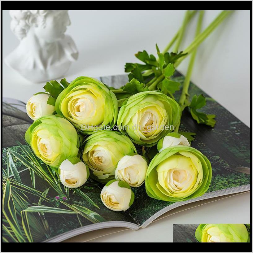 اكاليل الزخرفية الشمال فرع واحد camellia الأوروبي أزياء نمط محاكاة زهرة الريف الداخلية طاولة القهوة الديكور الزهور ukyjh