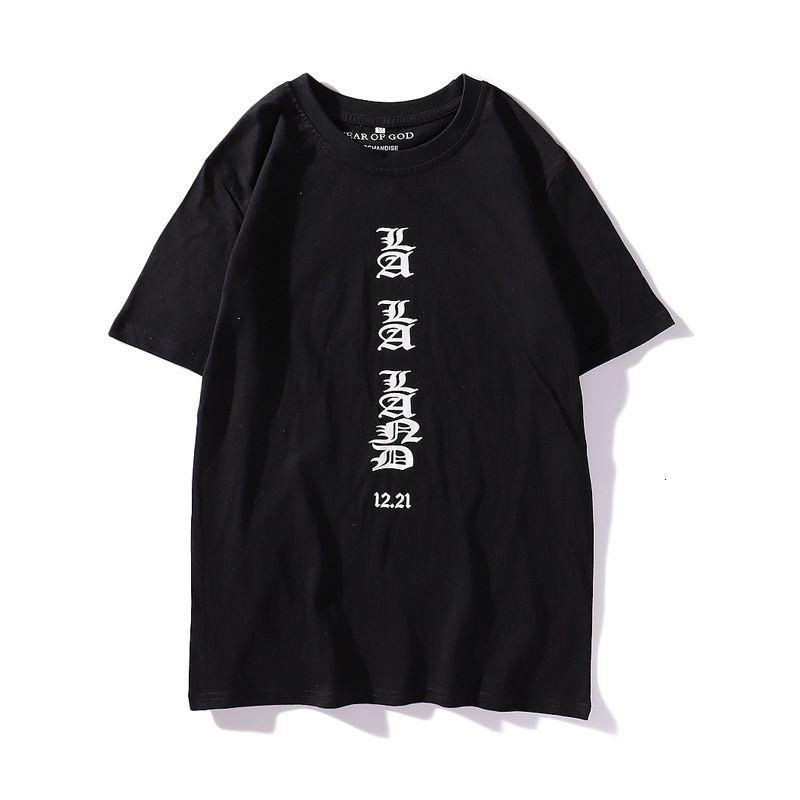 19SS T-shirt Hommes T-shirt À Manches courtes Mode Casual Tees Haute Qualité Hommes Femmes Hip Hop Tees
