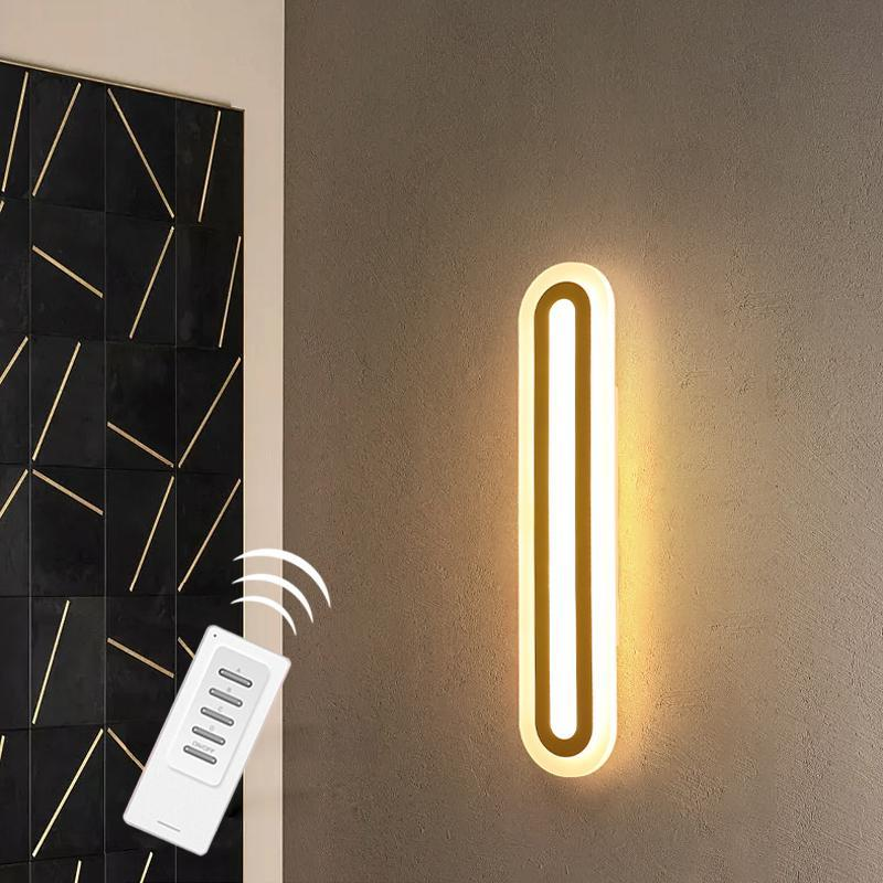 Define Aisle Ceiling Light 현대 벽 램프 원격 제어 거실 침대 옆 욕실 Cloakroom Wash Basin 거울 조명