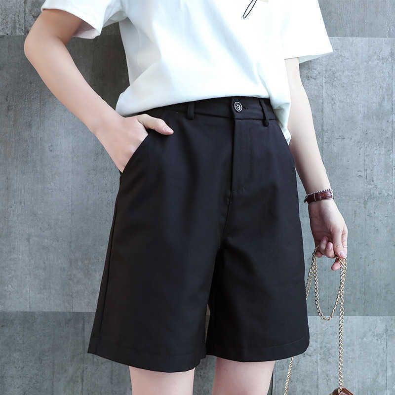 Damen Shorts Frauen Sommer Büro Dame Business Casual Straight Drape Weibliche Feste Farbe Große Größe Slim Fit Anzug TGBT