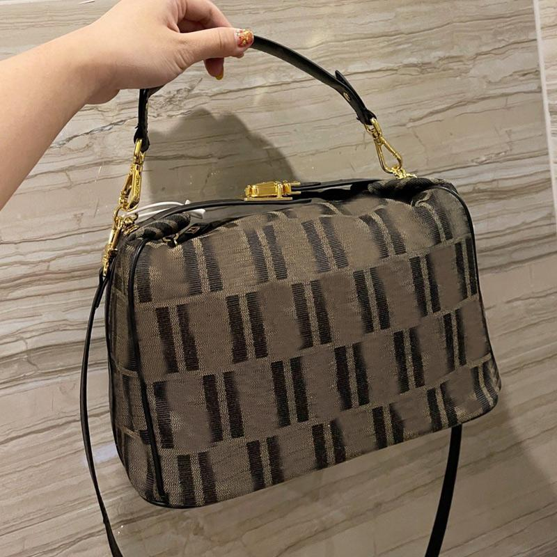Vintage Hand Bags Handbag Purse Fashion F letter Package Box Shoulder Bag Lady Tote Canvas Golden Hasp Casual Handbags
