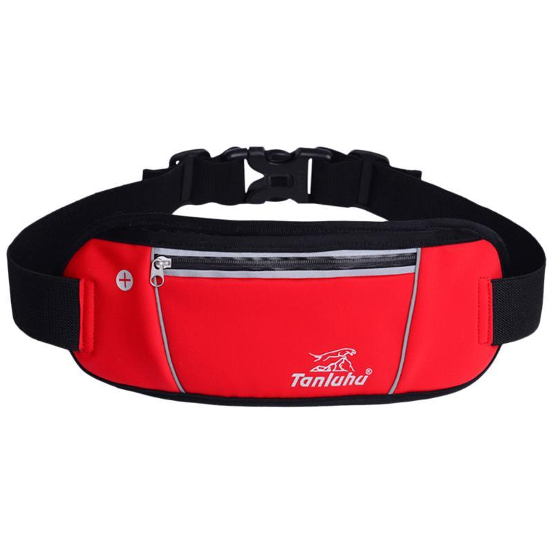 Outdoor Bags Reflective Running Belt Lightweight Breathable Waist Fanny Pack Water-resistant For Cycling Hiking
