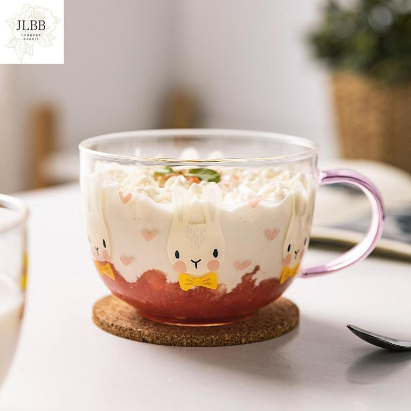 Mugs Lovely High Heat-resistant Borosilicate Glass High-capacity Breakfast Cup Tea Of Milk A Cold Drink