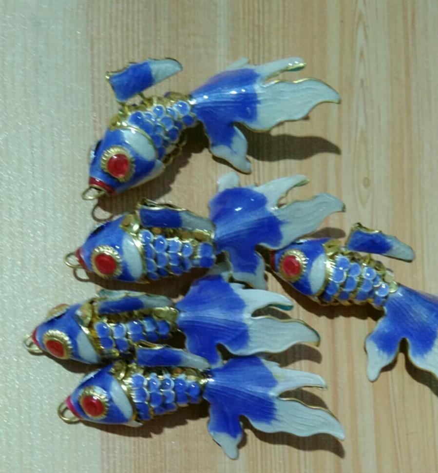 Fatto a mano Vivid Sway Cute Smalto Fish Charms per gioielli Fabbricazione del pendente della collana del braccialetto del braccialetto del braccialetto degli orecchini degli orecchini del braccialetto dei keychain dei gioielli 5pcs 6cm 7.5cm 10cm