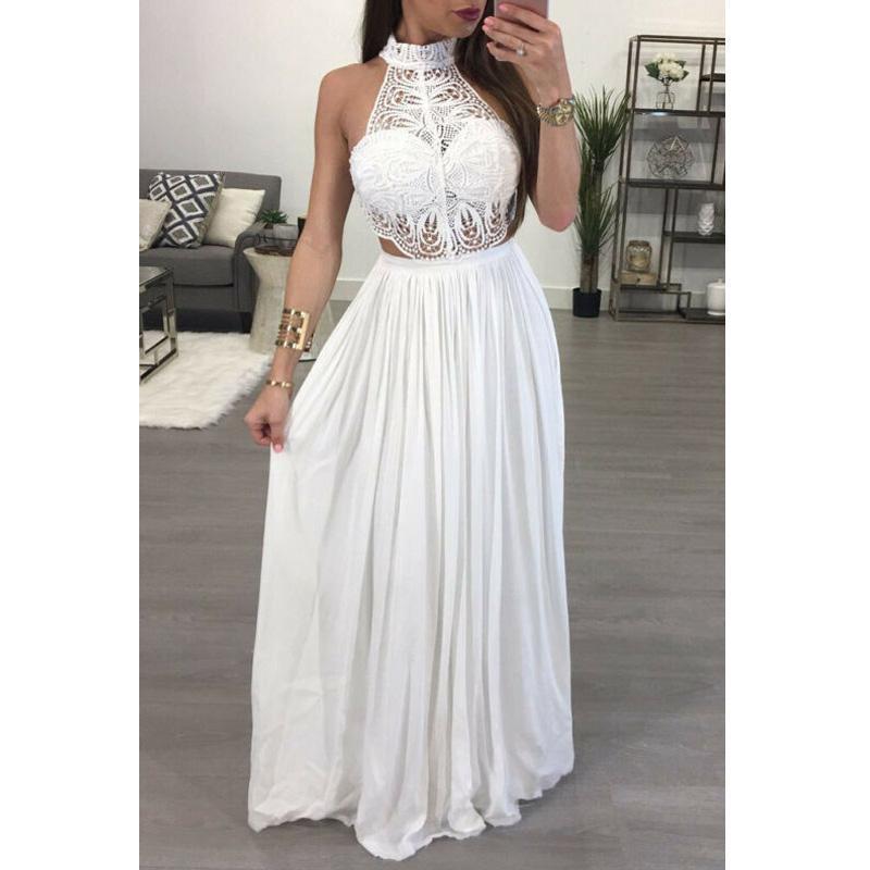 여성 숙녀 Maxi 여름 긴 저녁 파티 드레스 비치 드레스 Sundress 화이트 와인 레드 드레스 캐주얼