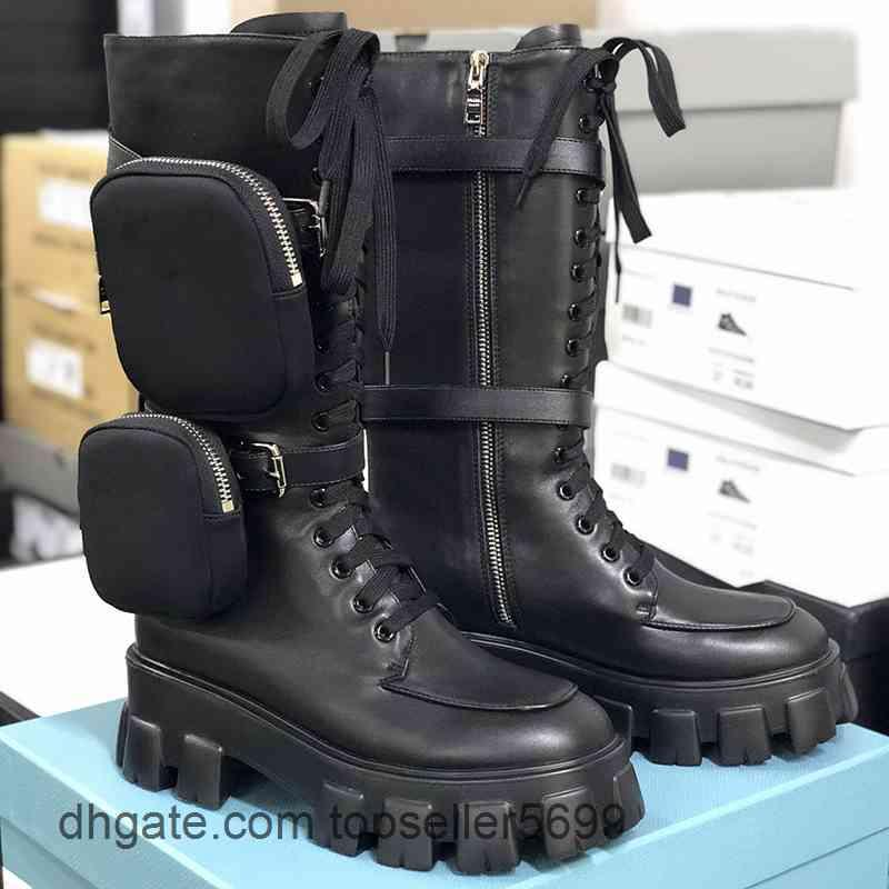 Kadın Rois Patik Yüksek Ayak Bileği Martin Çizmeler Ve Çıkarılabilir Keycase Naylon Boot Askeri İlham Düşük Kesim Savaşı En Kaliteli