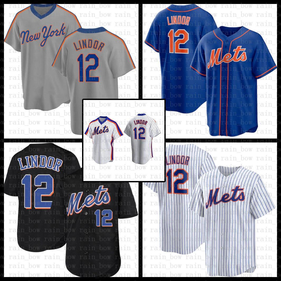 새로운 야구 유니폼 요크 만 맞춤 맞춤 12 프란시스코 린더 20 Pete Alonso 48 Jacob Degrado 18 Darryl Strawberry 31 마이크 Piazza 34 Syndergaard