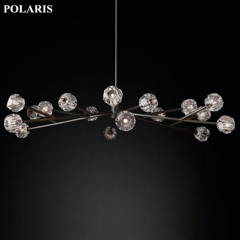 Kronleuchter Boule de Cristal Runde Kronleuchter Beleuchtung 72 '' Modern Vintage Kristall Anhänger Hanging Light Restaurant