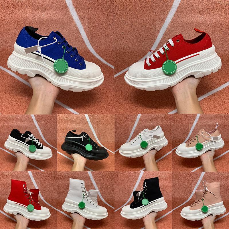2021 Pisada Slick Lienzo Sneaker Mujeres Casual Zapatos Negro High Pale Pink Blanco Royal Red Triple Transpirable Sneakers Versátiles US 5-10