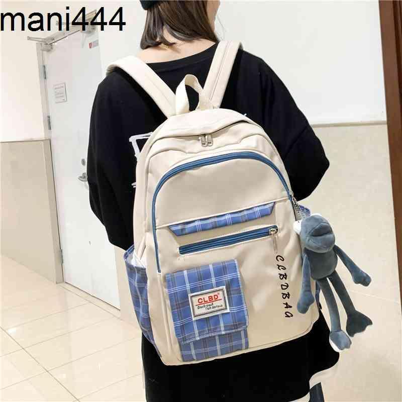 Herbst und Winter New Ins Campus Kleine frische Student Gitter Schultasche Koreanische Klassische Fühle Schöne Mädchen Rucksack