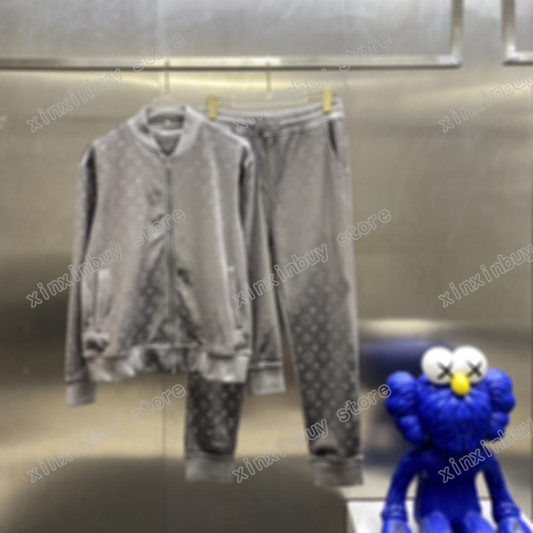 21ss мужские женские дизайнеры трексуисты эмбозы жаккардовые буквы стрит одежды ветровщик мода спортивная мультяшка мужчина дизайнер молния черный белый синий серебристый коричневый xinxin
