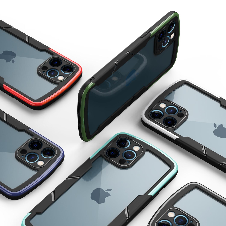 견고한 방패 하이브리드 투명 아크릴 Shockproof 휴대 전화 케이스 아이폰 12 11 Pro Max XR XS 8 7 6 플러스 삼성 A12 A42 A52 A72 5G A01 코어 A21S Redmi 9 9A 9C NOTE9S