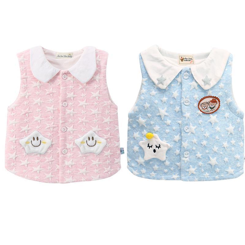 2 피스 유아 소녀 아기 소년 민소매 스웨터 조끼 패션 어린이 의류 태어난 니트 탑 와이토 코트
