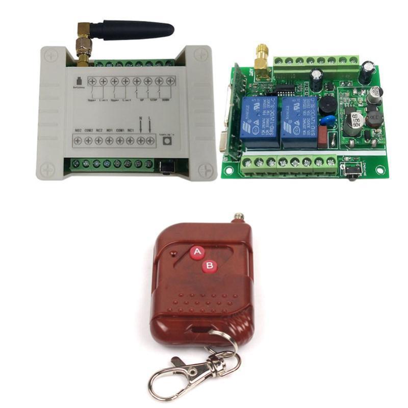 Smart Home Control 12V-36V 2ch اللاسلكي rf البعيد التبديل الاستقبال وحدة التتابع ل باب المرآب / مصراع / راديو / أجهزة العرض 12 فولت 24 فولت 36 فولت
