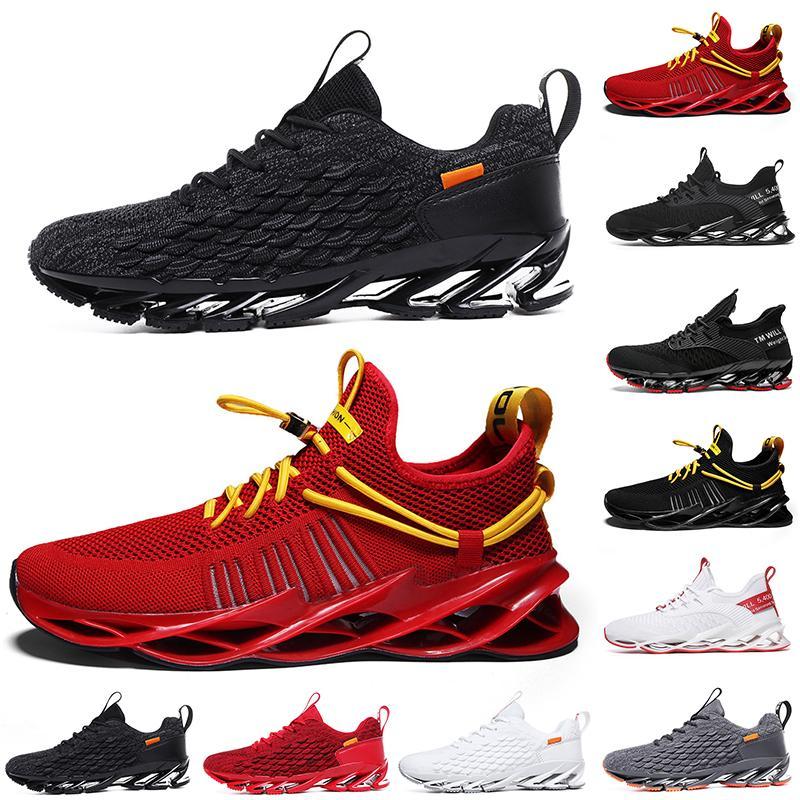 2021 Hombres no marcas Mujeres Running Shoes Blade Slip on Triple Negro Blanco Todos Red Gray Terracotta Warriors Mens Gym Trainers Zapatillas deportivas al aire libre 39-46