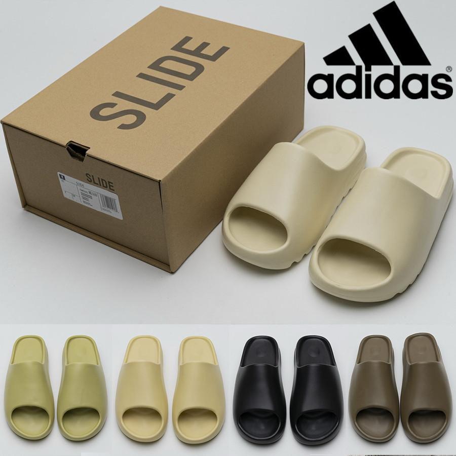 Kanye West yeezy yezzy yeezys  450  Slide Clog Slipper Sandal Foam Runner Triple Black Fashion Slipper Women Mens Tainers bone  Designer Beach Sandals Slip-on Shoes
