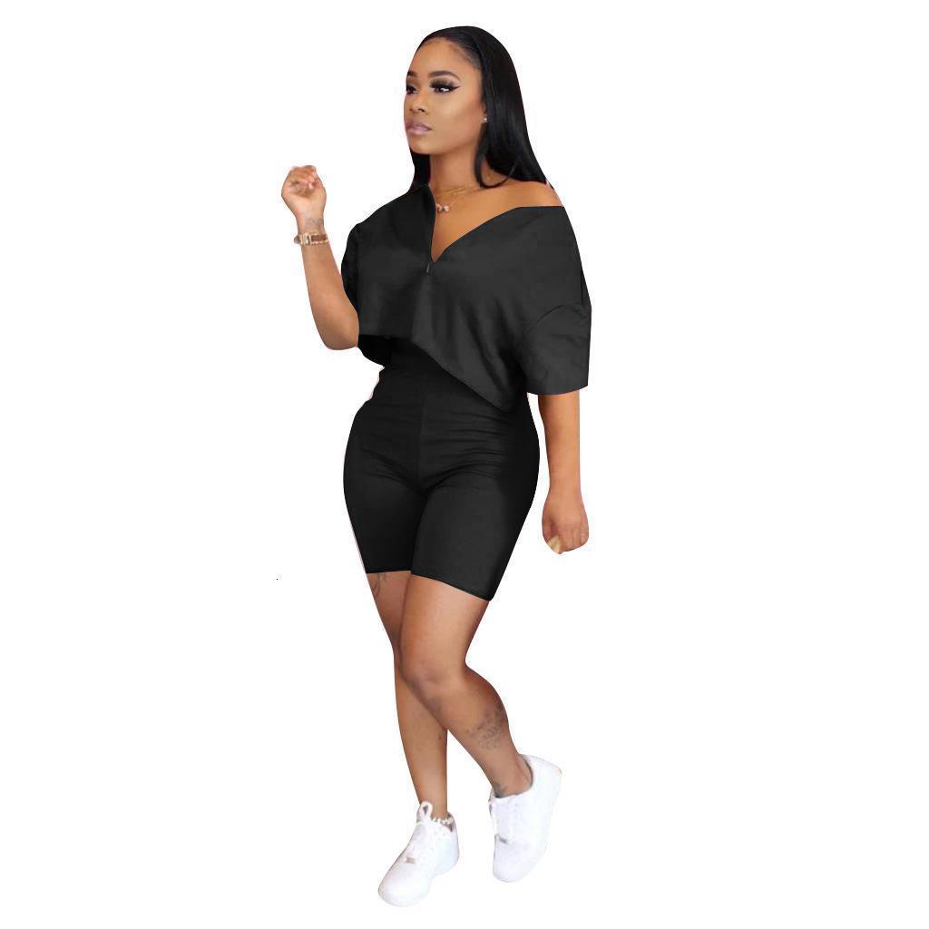 2020 neue einfache frauen zwei stück shorts set sexy solide 2 stück stil kleidung designer frauen set frauen trainingsanzug