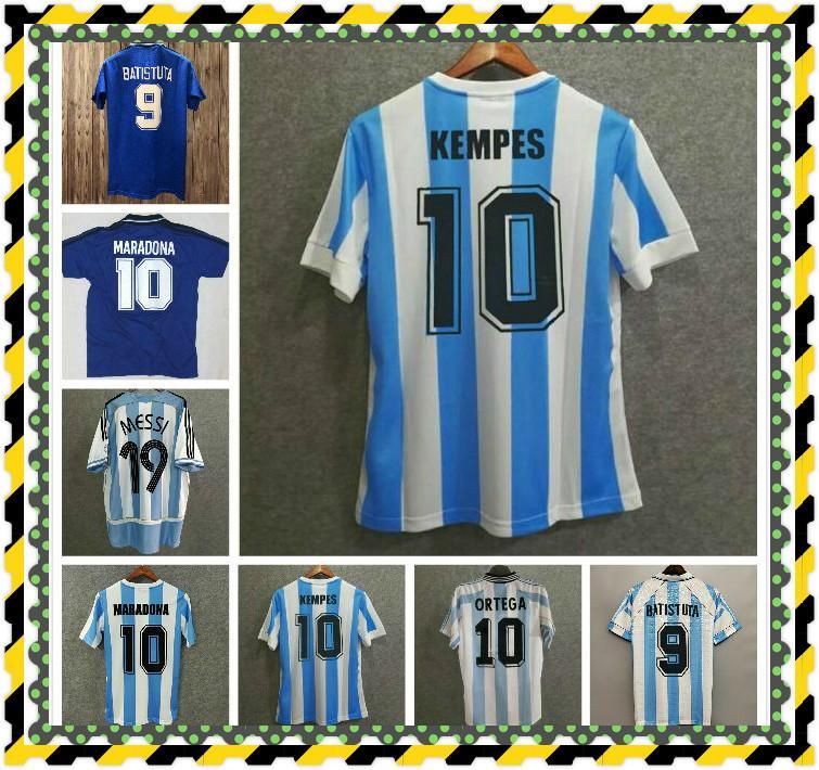 Maradona Soccer Jerseys Retro Version 1978 Argentinien 1986 Vintage Football Hemden 1981 Boca Juniors 1987 1988 1989 Napoli 87 88 MAILLT