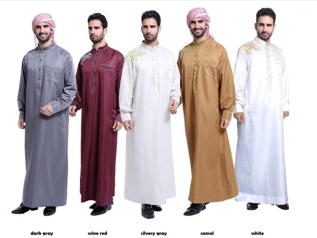 Arab Muslim Clothing for Men The Middle East Arab Male People Dress Thobe Arabic Islamic Abayas Dress Mens Robe1