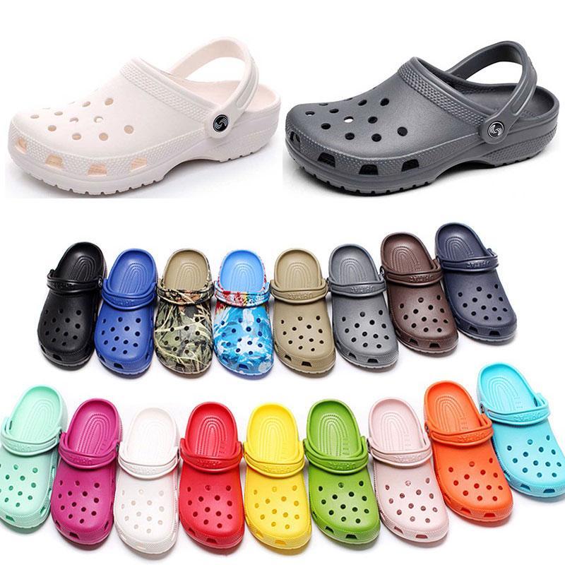 캐주얼 해변에서 여자 패션 슬립 방수 신발 남성 남성 클래식 간호 Clog 병원 여성 슬리퍼 작업 의료 샌들 90 켤레