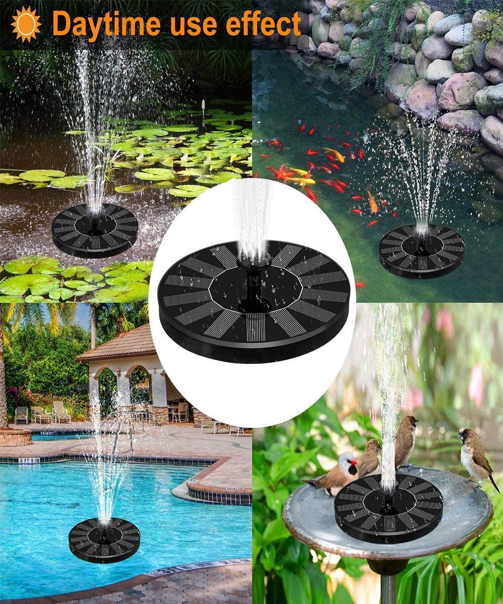 Bahçe Su Pompası Güç Havuzu Paneli Kiti Yüzer Mini Güneş Çeşmesi Gölet Ev Dekorasyon Açık Kuş Banyosu Şelale