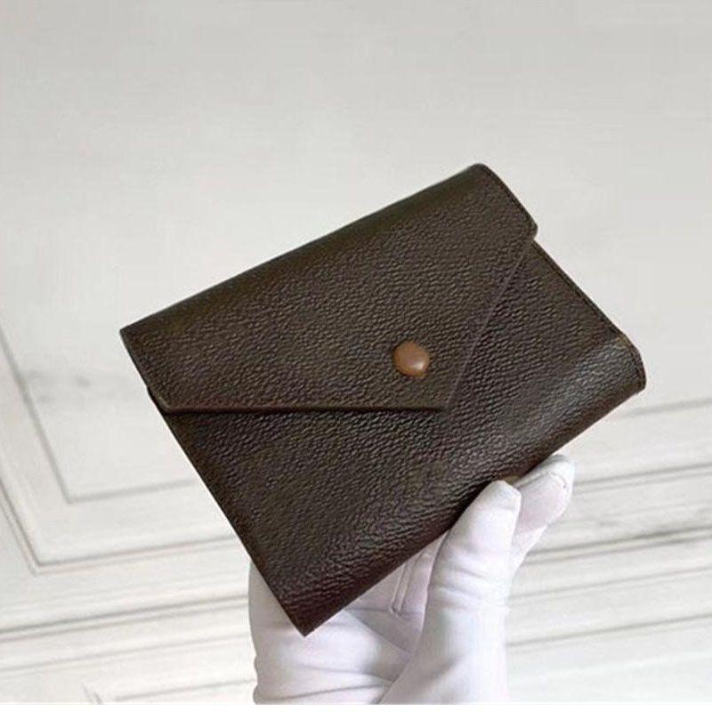 Portafoglio con scatola in pelle Multicolor Coin Borsellino Portafogli Brevi Portafogli Carta pieghevole Porta carte Donna Borse classiche