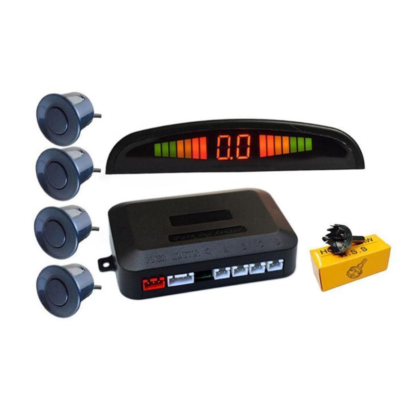 Carro de vista traseira câmeras estacionamento sensor sensor com 4 reverse backup sistema de radar detector de exibição U3L6