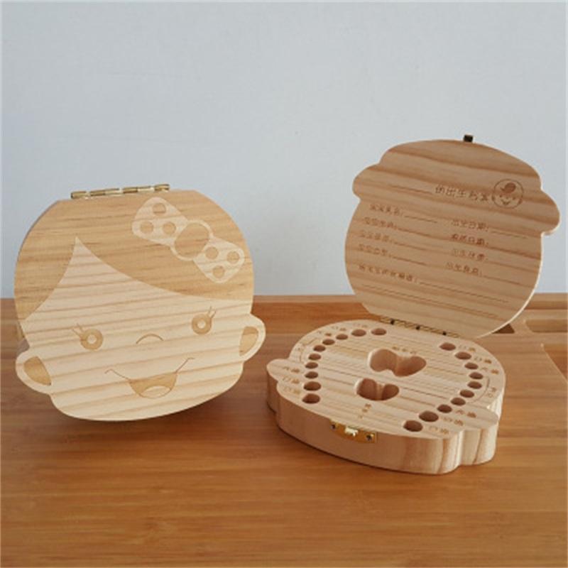 طفل خشبي أسنان حفظ صندوق حليب الأسنان المنظم شخصية الطفل الأسنان مربع تخزين لطيف مربع تذكارية شطف للأطفال 319 Y2