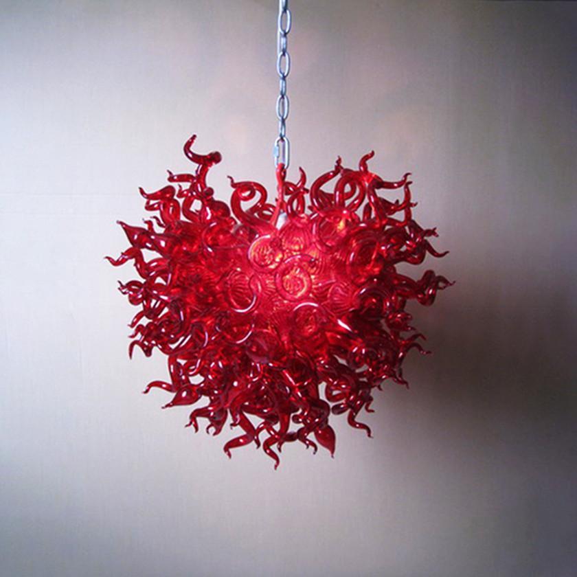Lampade in vetro vintage Lampadario Sospensione per camera da letto Soggiorno industriale moderno LED Lampada a sospensione Lampada a sospensione Colore rosso 32 di 32 pollici Lightings Loft