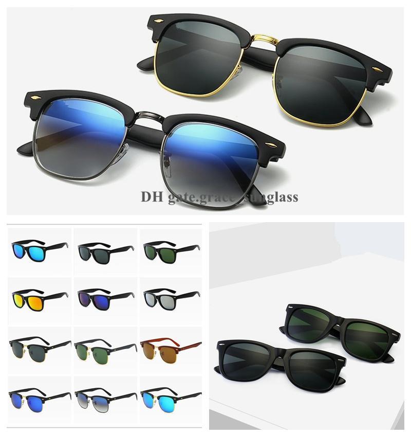 Designer de luxo óculos de sol meia-quadro polarizado uv400 moda tendência homens mulheres sunglass clássico vintage feminino ciclismo dirigindo acessórios de óculos com case grátis