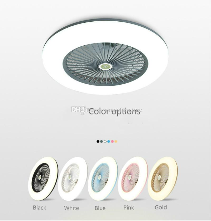 Modern Bedroom Ceiling Fans with LED Light 40W Six Color Options for Kids Room Decorative Lighting