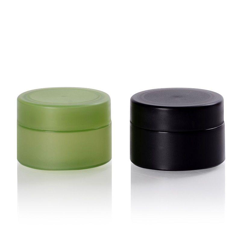 50G noir / vert mette en plastique cosmétique Bouteilles de bricolage Taille de voyage Taille de voyage pour la tenue de baume à lèvres, gel d'aloe vera, masque ou autre crème