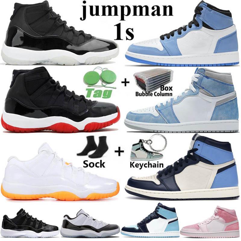 Avec Box Jumpman rétro 1 High Basketball Chaussures Hommes 1s University Blue Hyper Royal Obsidian UNC Dark Mocha Twist Mid Chicago Femmes Baskets Baskets